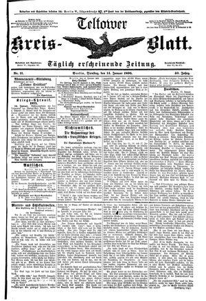 Teltower Kreisblatt vom 14.01.1896