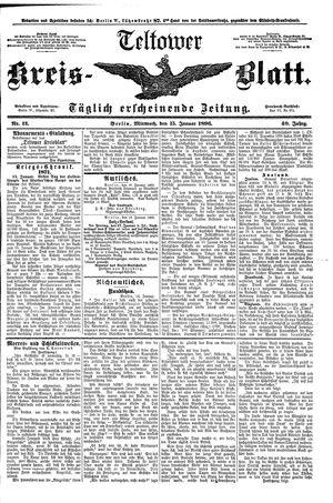 Teltower Kreisblatt vom 15.01.1896