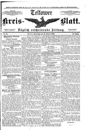 Teltower Kreisblatt vom 16.01.1896