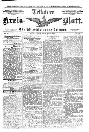 Teltower Kreisblatt vom 17.01.1896