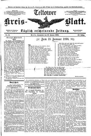 Teltower Kreisblatt vom 18.01.1896