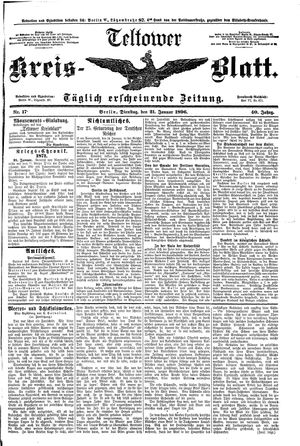 Teltower Kreisblatt vom 21.01.1896