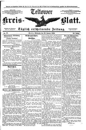Teltower Kreisblatt on Jan 22, 1896