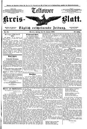 Teltower Kreisblatt vom 24.01.1896