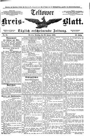 Teltower Kreisblatt on Jan 28, 1896