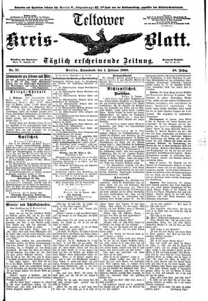 Teltower Kreisblatt vom 01.02.1896