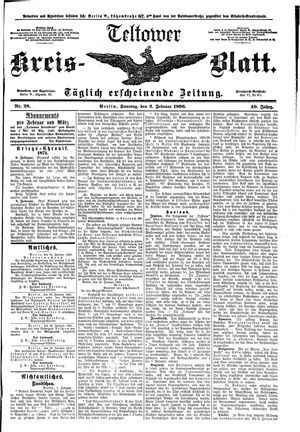Teltower Kreisblatt vom 02.02.1896