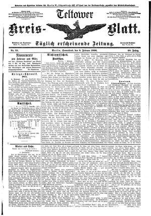 Teltower Kreisblatt vom 08.02.1896