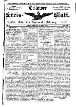 Teltower Kreisblatt vom 11.02.1896