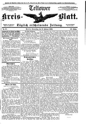 Teltower Kreisblatt vom 13.02.1896