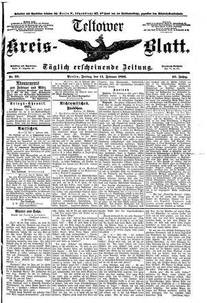 Teltower Kreisblatt vom 14.02.1896