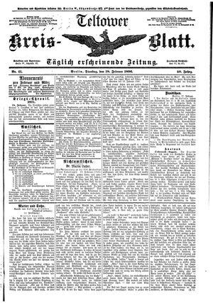 Teltower Kreisblatt vom 18.02.1896