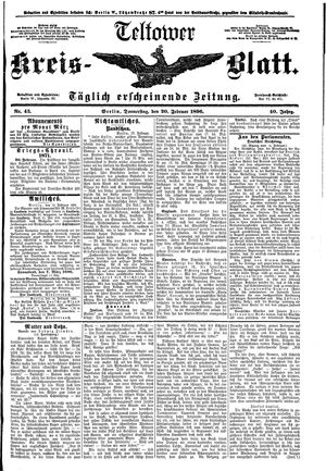 Teltower Kreisblatt on Feb 20, 1896