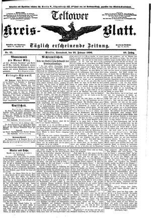 Teltower Kreisblatt vom 22.02.1896