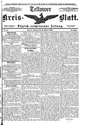 Teltower Kreisblatt vom 25.02.1896