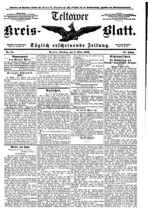 Teltower Kreisblatt vom 03.03.1896