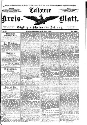 Teltower Kreisblatt vom 07.03.1896