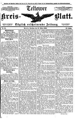 Teltower Kreisblatt vom 10.03.1896