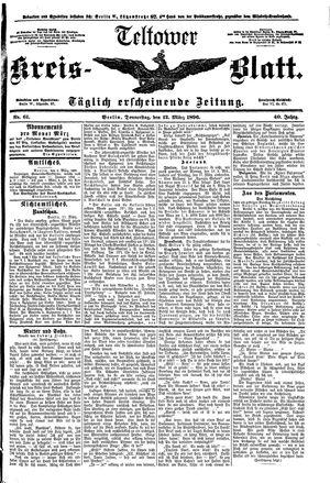 Teltower Kreisblatt vom 12.03.1896