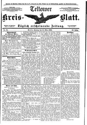 Teltower Kreisblatt vom 15.03.1896