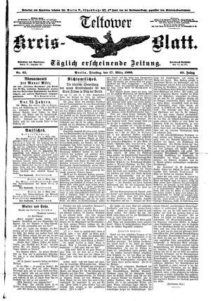 Teltower Kreisblatt vom 17.03.1896