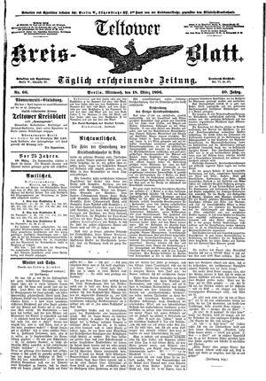 Teltower Kreisblatt on Mar 18, 1896