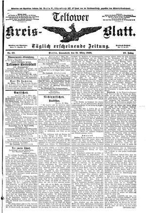 Teltower Kreisblatt vom 21.03.1896