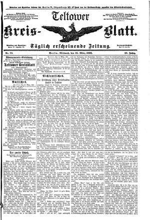 Teltower Kreisblatt vom 25.03.1896