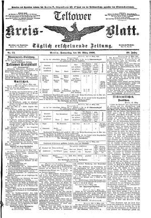Teltower Kreisblatt vom 26.03.1896