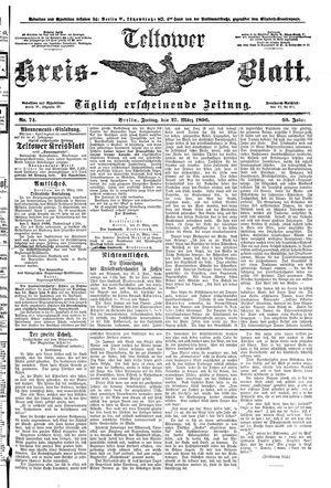Teltower Kreisblatt vom 27.03.1896