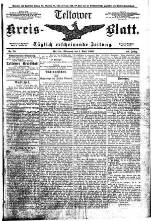 Teltower Kreisblatt on Apr 1, 1896