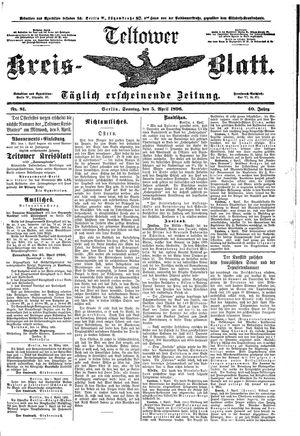 Teltower Kreisblatt on Apr 5, 1896