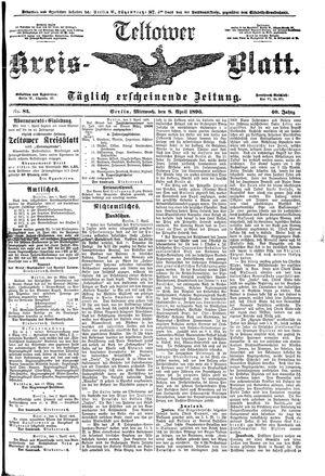 Teltower Kreisblatt vom 08.04.1896
