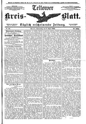 Teltower Kreisblatt vom 09.04.1896