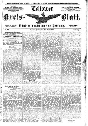 Teltower Kreisblatt vom 10.04.1896