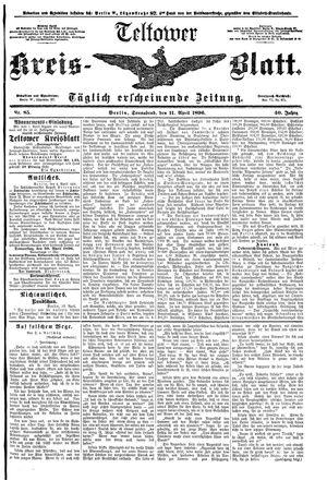 Teltower Kreisblatt vom 11.04.1896