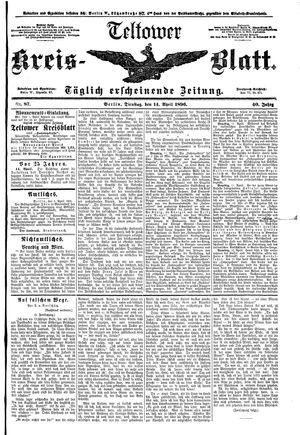 Teltower Kreisblatt vom 14.04.1896