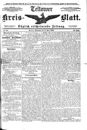 Teltower Kreisblatt vom 15.04.1896