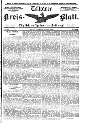 Teltower Kreisblatt vom 21.04.1896