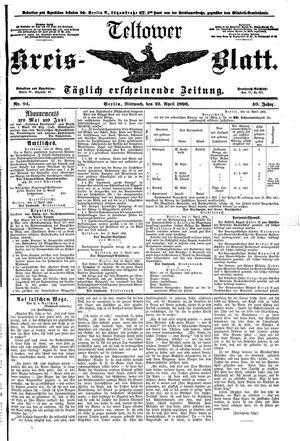 Teltower Kreisblatt vom 22.04.1896