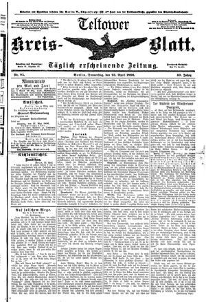 Teltower Kreisblatt vom 23.04.1896