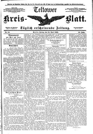 Teltower Kreisblatt vom 24.04.1896