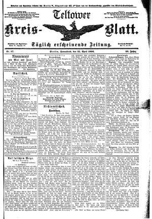 Teltower Kreisblatt vom 25.04.1896