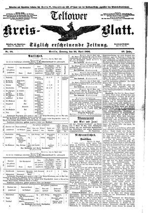Teltower Kreisblatt vom 26.04.1896