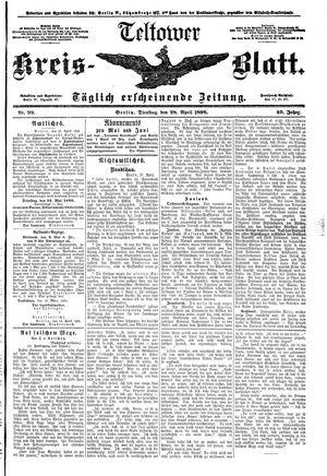 Teltower Kreisblatt vom 28.04.1896