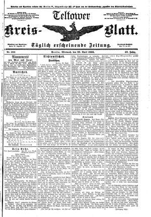 Teltower Kreisblatt vom 29.04.1896