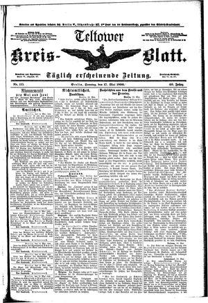 Teltower Kreisblatt vom 17.05.1896