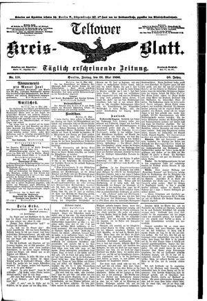 Teltower Kreisblatt vom 22.05.1896