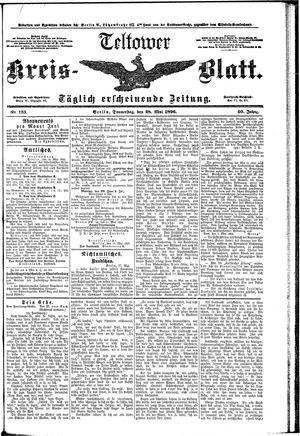 Teltower Kreisblatt vom 28.05.1896