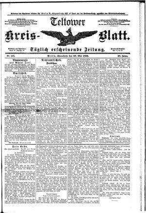 Teltower Kreisblatt on May 30, 1896
